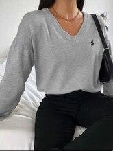 Cair blusas para as mulheres 2021 venda quente primavera e no outono de moda de nova sexy v-neck top solto mulheres Harajuku mulheres camisola de grandes dimensões