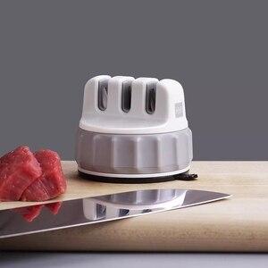 Image 2 - Huohou sabit bileme taşı üçlü tekerlek Whetstone süper emme bıçak bileyici bileme aracı Grindstone