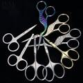 Nagel Schere Gebogene Runde Nähen Kran Edelstahl Häutchen Cutter Augenbraue Schere Maniküre Trimmer Nagel Make-Up Werkzeug CH1519