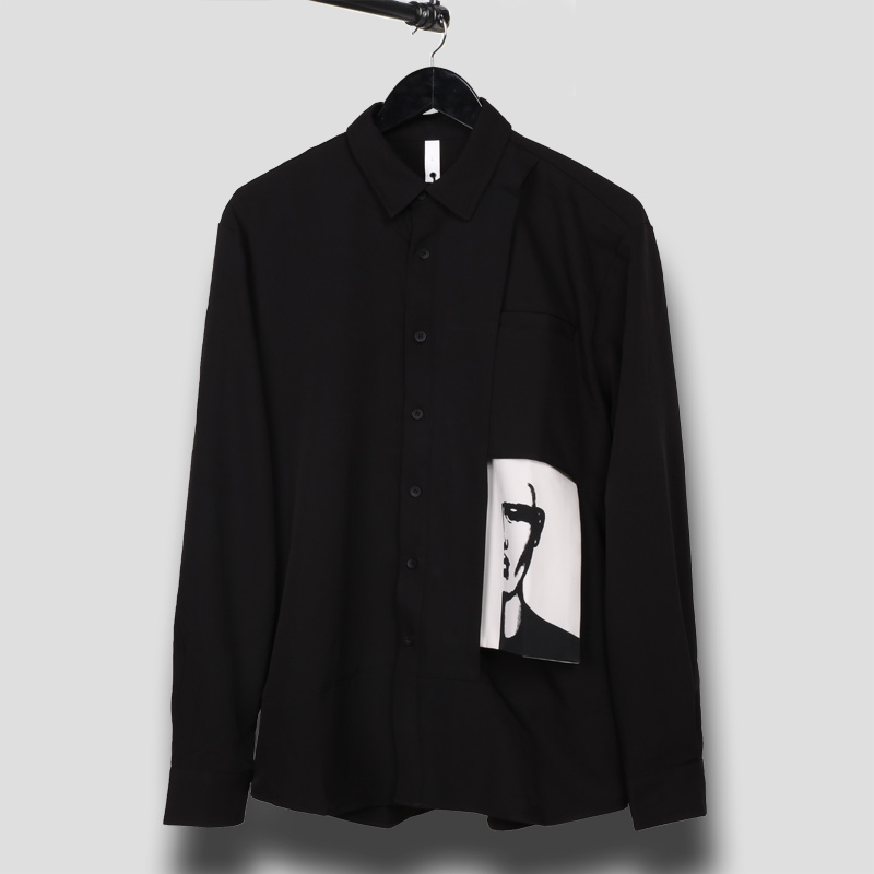 Owen Seak Men Casual Shirts Gothic Style Men's Clothing Spring Male Autumn  Black Shirts