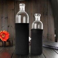 Odporny na wysoką temperaturę szklana butelka wody 500 Ml prosta podwójna warstwa wysokiej odporny na temperaturę butelka ze szkła borokrzemowego sporty wodne B w Jajowary od AGD na