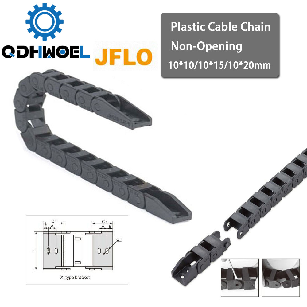 Plastic Cable Chain 10*10 10*15 <font><b>10*20</b></font> mm 1M Non Snap-Open Plastic Towline Transmission Drag Chain Machine image