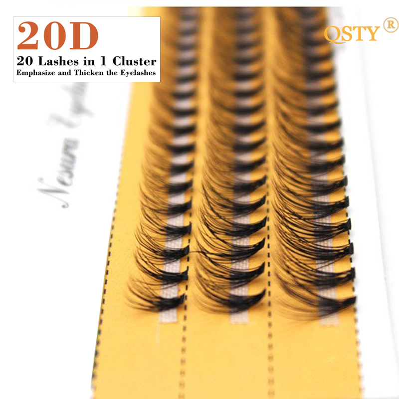 1boxes Volume 20D Eyelash Extensions 0.07mm Thickness Hair Mink Strip Eyelashes Individual Lashes Fans Lash Natural Style