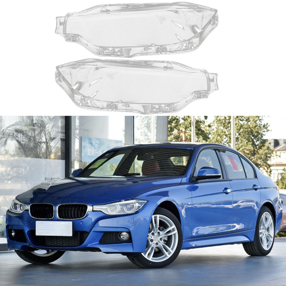 Car Front Headlamps Transparent Lampshades Headlights Cover Lens For BMW 3 Series 316 320 328Li F30 F35 2016-2018 No13