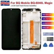 Do BQ 6040L komórkowego BQ Magic BQ 6040L BQ6040L wyświetlacz LCD i montaż digitizera ekranu dotykowego + wymiana ramki + narzędzia + taśma