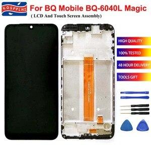 Image 1 - Do BQ 6040L komórkowego BQ Magic BQ 6040L BQ6040L wyświetlacz LCD i montaż digitizera ekranu dotykowego + wymiana ramki + narzędzia + taśma