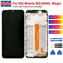 Per BQ Mobile BQ 6040L Magia BQ 6040L BQ6040L Display LCD e Touch Screen Digitizer Assembly + Frame di Ricambio + Strumenti + nastro