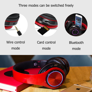 Image 5 - B39 Bluetooth Headphones wireless Portable Folding Headset  Support call mp3 player With Microphone LED Colorful Lights