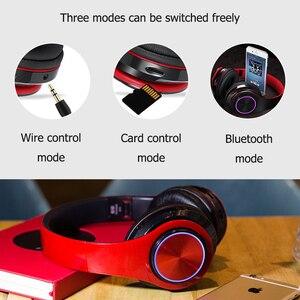 Image 5 - B39 Bluetooth אוזניות אלחוטי נייד מתקפל אוזניות תמיכת שיחת mp3 נגן עם מיקרופון LED צבעוני אורות