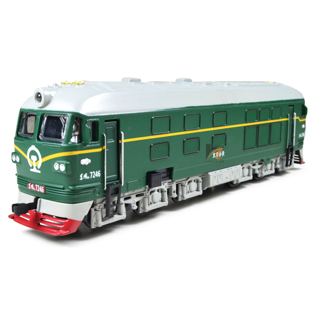 Rowsfire 1:87 Simulated Alloy Train Locomotive Model Pull Back Vehicle Toy With Sounds And Lights For Architectural Sand Table