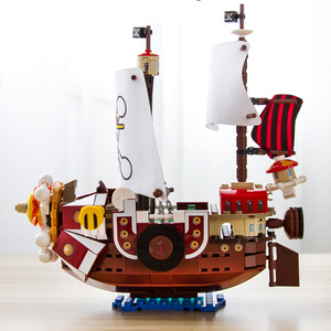 Image 3 - 432pcs One Pieces Building Blocks Thousand Sunny Pirate Ship Luffy Blocks Model Techinc Idea Figures Toys for Children