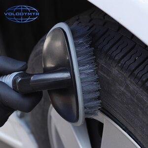 Image 5 - Escova de roda de Pneu Mais Limpo Universal TPR Lidar com o Super Stiff Cerdas Ferramentas para Limpeza Do Carro Detalhamento Auto Lavar Detalhe