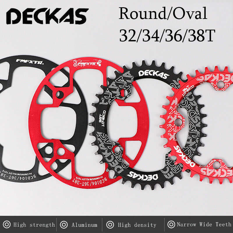 DECKAS 32-38t 104bcd MTB Bike Narrow Wide Chainset Crank set Chainring Guard