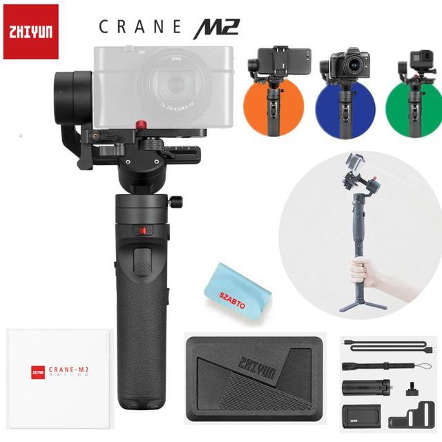 Zhiyun Crane M2 3 Axis Handheld Gimbal Stabilizer for Mirrorless Cameras Smartphones Gopro Stabilizer vs G6 Plus DJI Ronin S Max