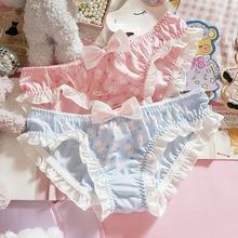 Underwear Women Panties Kawaii Lingerie Anime Brief Japanese Lolita Sexy Young Cartoon