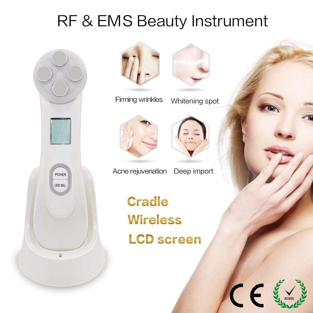 5 in 1 Gesichts Mesotherapie Elektroporation RF Radio Frequenz LED Photon Therapie Gerät EMS Gesicht Heben Schönheit Maschine Hautpflege
