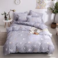 Home Textile Christmas Tree gray Duvet Cover Pillowcase Flat Bed Sheets Girl Kid Child Teen Bedding Set Full Queen bedclothes
