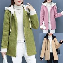 Moda damska kardigan nadruk w litery bluza z długim rękawem bluzka sportowy płaszcz zimowy jednokolorowy damski długi sweter płaszcz top tanie tanio CASHMERE CN (pochodzenie) Zima