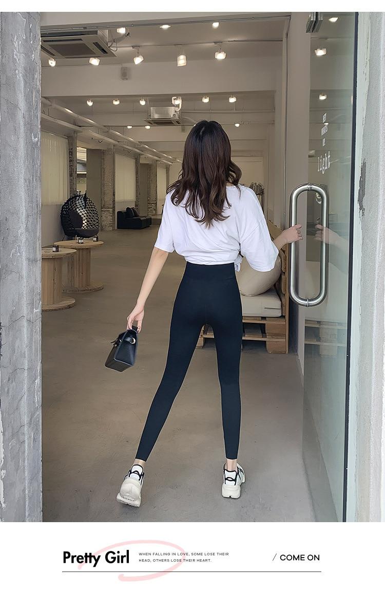H3bcc90e5fa6f4290a634b804ec6862a0D BIVIGAOS New Women Sharkskin Black Leggings Thin Workout Stretch Sexy Fitness Leggings Skinny Legs Slimming Sport Leggings