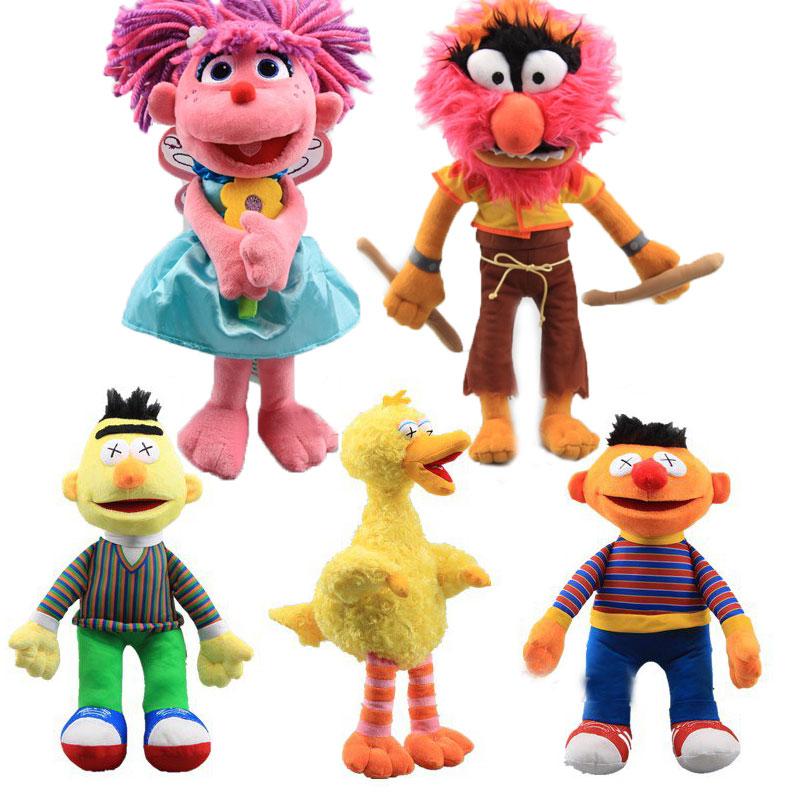 22 Styles Sesame Street Plush Elmo Abby Cadabby Bert Monster Ernie Big Bird Plush Toys Doll Stuffed Animals Toys Children Gift