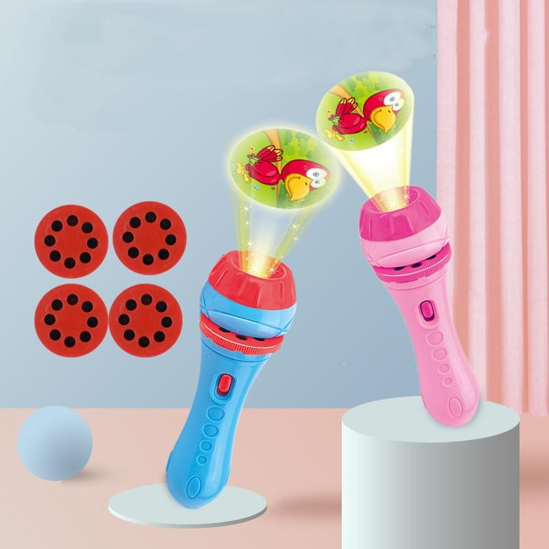 1 шт Детские спальные история вспышка светильник с лампой Игрушки для раннего обучения игрушки для детей на день рождения, подарок на Рождес...