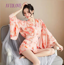 Sexy Japanse Kimono Traditionele Vrouw Glad Bad Robe Gown Sexy Rok Voor Sex Erotische Cosplay Lady Kimono Bad Gown Nachtkleding(China)