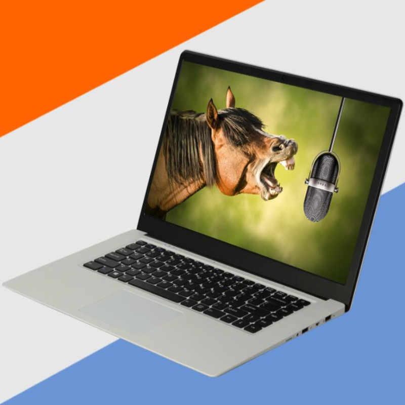 15.6inch Siêu Mỏng Laptop Intel Celeron J3455 CPU Quad Core 8G DDR3 + 1000G HDD Cửa Sổ 7/10 Máy Tính Xách Tay máy tính
