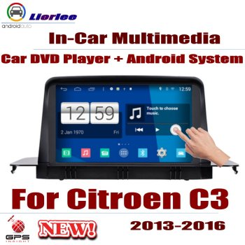 Car Radio DVD Player GPS Navigation For Citroen C3 2013~2016 Android HD Displayer System Audio Video Stereo In Dash Head Unit