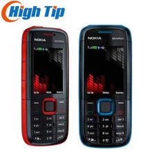 Desbloqueado original nokia 5130 xpressmusic telefone móvel bluetooth fm celular inglês russo árabe teclado suporta