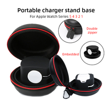 Portable charger stand base For Apple Watch Series 5 4 3 2 1 Travel Hard Protective for Airpods Bag Storage Cover Zipper Box