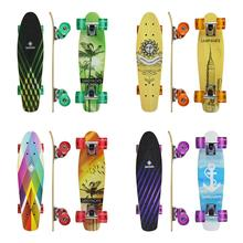 22 Inch Maple Skateboard With 4 Wheels 7 Layer Maple Deck Colorful Skateboard Gift For Kids Beginners Dropship