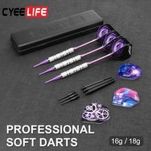 CyeeLife – jeu de fléchettes à pointe souple professionnelles d'intérieur, jeu de fléchettes à pointe en plastique pour jeux de fléchettes électroniques