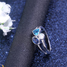 NEWBUY Unique Design Irregular Geometric Ring For Women Silver Color Crystal Ring Statement Party Jewelry(China)