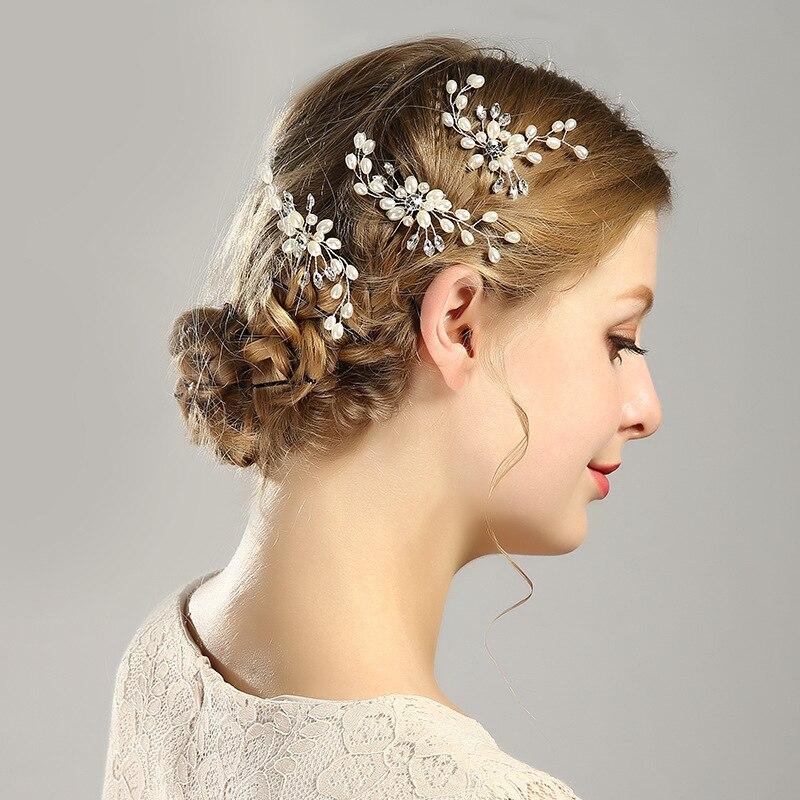 CN Hair Accessories Silver Bridal Veil Pear…