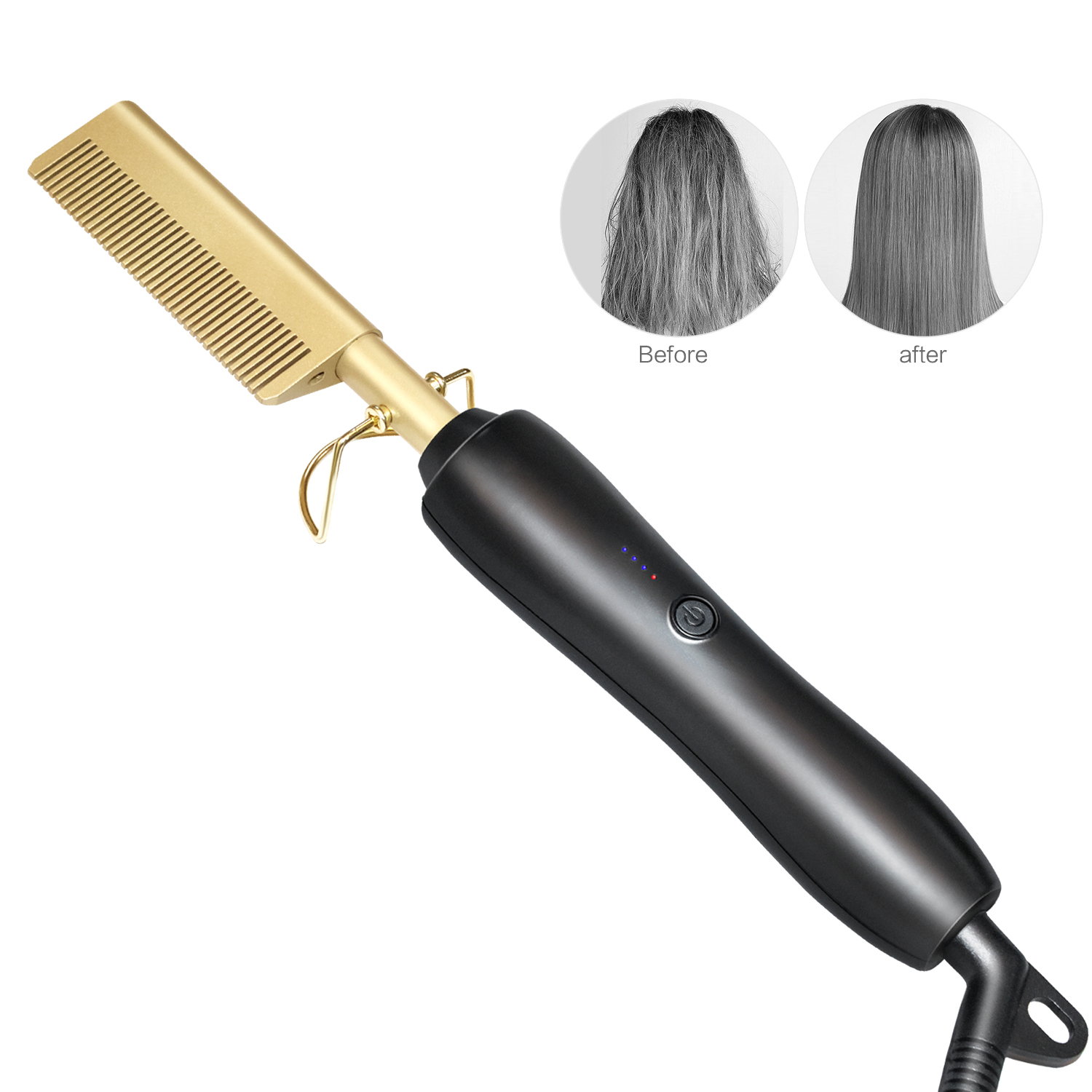 Professional Hair Brush Straightener Hot Comb Smoothing Brush Electric Heating Comb Styler Hair Curler Straightening