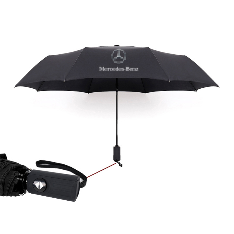Automatic Telescopic Umbrella for Mercedes Benz W203 W204 W205 W211 W201 W213 Big Folding Umbrella Logo Parasol Auto Accessories
