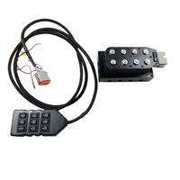 AA VU8 8 Ecke Magnetventil Einheit 1/4 Zoll Pneumatische Stoßdämpfer Luft Magnetventil Einheit mit Kabel Stecker und controller-in Ventile & Teile aus Kraftfahrzeuge und Motorräder bei