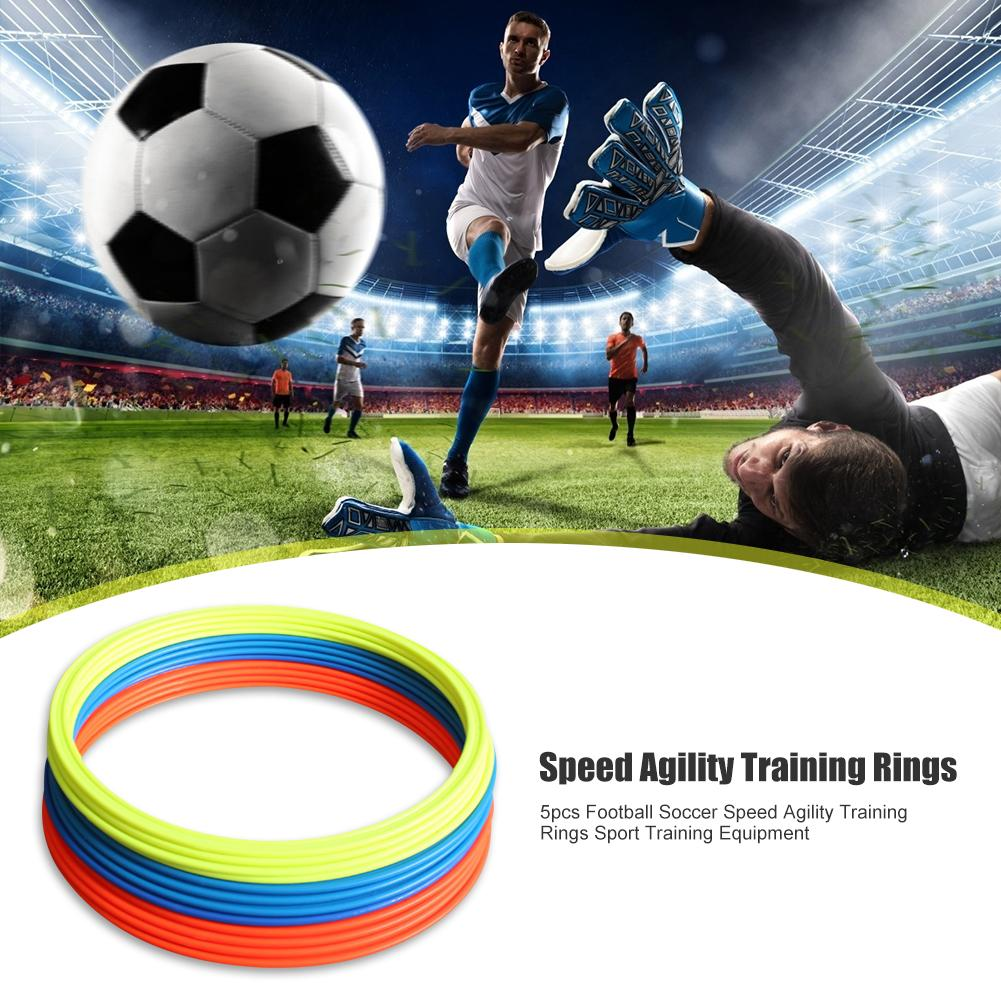 Durable Agility Training Rings Classic Delicate 5pcs 30cm 40cm Dia Soccer Speed Agility Rings Football Training Equipment Gear