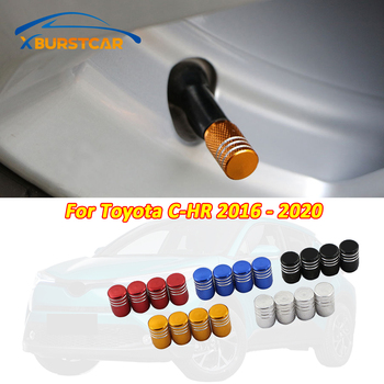Xburstcar Auto for Toyota CHR C-HR 2016 - 2020 4Pcs/Set Aluminum Alloy Metal Car Wheel Tire Valve Caps Stem Case Accessories image