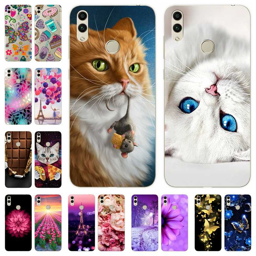 Silicone Cover For Huawei honor 8c 8x Printing Cute Bumper on Case For Huawei Honor 8 C X Fundas Coque Phone Back Cover Capa