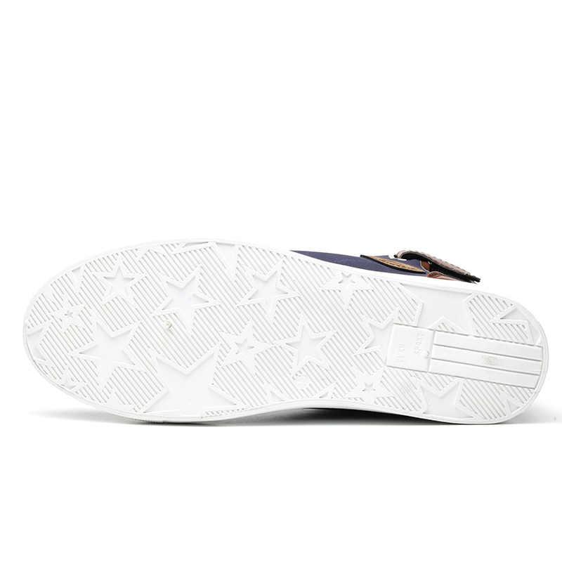 Fashion Autumn Winter Male Footwear Patchwork Flats sneakers  High Top Men Shoes Canvas Men Casual Shoes BIG Size uio90