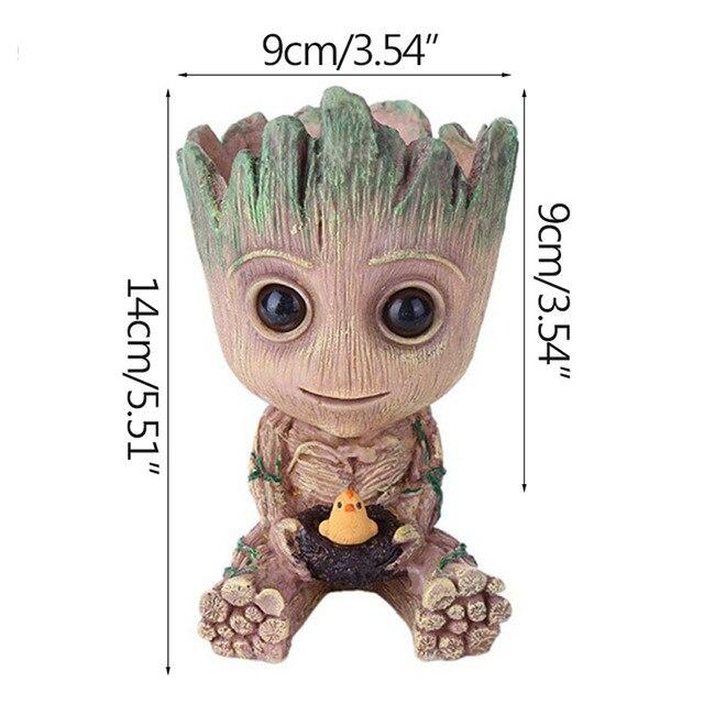 Strongwell saksı bebek Groot kalem Pot tutucu bitkiler saksı sevimli aksiyon figürleri oyuncaklar çocuklar için hediye masaüstü dekorasyon