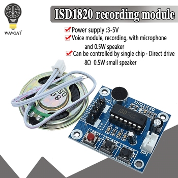 ISD1820 recording module voice the board telediphone with Microphones + Loudspeaker for arduino - discount item  7% OFF Active Components