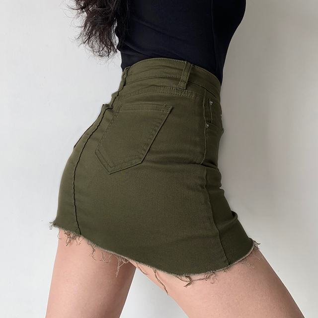 GOPLUS Women Denim Shorts Skirts High Waisted Shorts Black White Summer Clothes Mujer Female Jeans Spodenki Ropa Mujer C9806 4