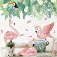 Фламинго, королева, наклейки на стену, домашний декор, гостиная, спальня, детская комната для девочек, украшение для детской комнаты, художес...