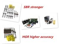 Free shipping linear guide HGR15/HGR20/SBR16/SBR20+ball screw SFU1605/1610+Nema23 stepper motor kit+spindle kit for cnc router