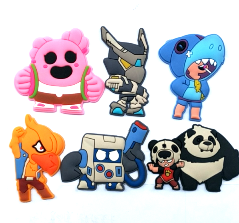 Brawl Stars Patch Sticker Stitching Embroidery Stickers Kid Cartoon Stitch Patch Badge Diy Clothes T-shirt Stickers Accessory