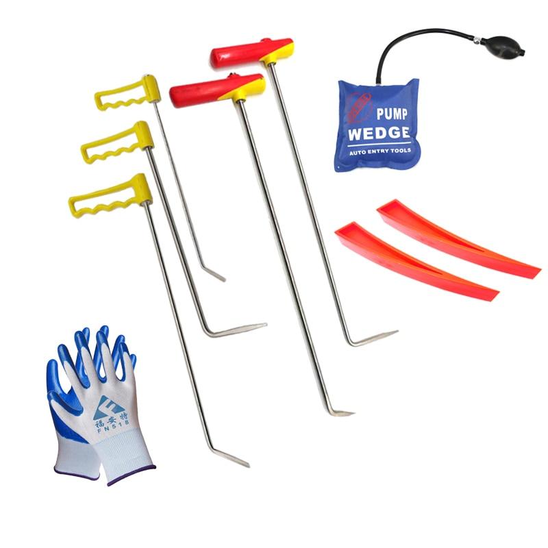 Rods Tools Car Dent Repair Kit Rotating Handle Rod adjustable car repair hook handle spring steel rod tools car dent removal