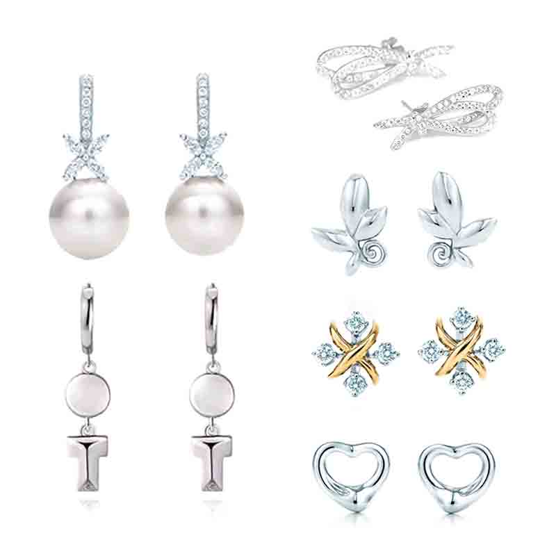 ED  04 TFB TTFF Original 925 Sterling Silver Earrings Fashion Glamour Woman Earrings Jewelry  With Original Logo Luxury Jewelry