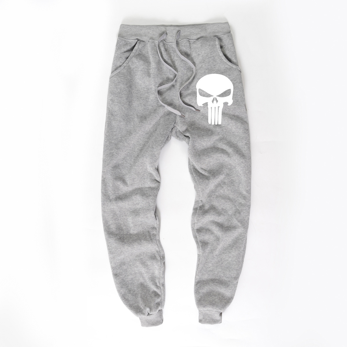 Men's Sweatpants Punisher New Fleece Trousers Gym Sportswear Autumn And Winter Causal Streetwear Unisex Wholesale Drop Shipping